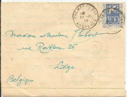 1934 - N° 294 Oblitéré (o) Sur Carte Lettre - France
