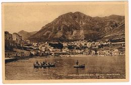 B3304 - Trapani,Castellammare Del Golfo, Panorama Dal Mare Viaggiata 1935 - Trapani
