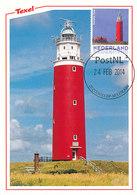 D36681 CARTE MAXIMUM CARD 2014 NETHERLANDS - DE COCKSDORP PHARE VUURTOREN LIGHTHOUSE TEXEL CP ORIGINAL - Lighthouses