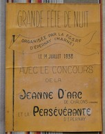 51 EPERNAY CHALONS SUR MARNE Grande Fete De La Nuit 14 Juillet 1938 - Affiches