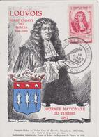 FR2494  ~  CARTE MAXIMUM,  1947  ~  MARQUIS DE LOUVOIS  ~  JOURNEE DU TIMBRE 1947 - Maximumkarten