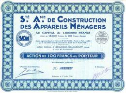 Construction Des Appareils Ménagers, 1930 – ART DÉCO - Industrie