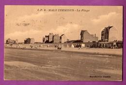 CPA - 59 -  DUNKERQUE / MALO TERMINUS - LA PLAGE - Dunkerque
