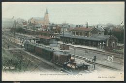Saint-Just-en-Chaussée - La Gare - Vve Darras, Lib.-Pap. - Couleur - Voir 2 Scans - Saint Just En Chaussee