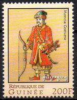 GUINEA 1v MNH**  Moncia Costume Archer Archery Hunting Bogenschießen Tiro Al Arco Tir à L'arc Armes - Militaria