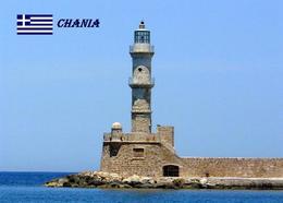 AK Leuchturm Greece Crete Chania Lighthouse New Postcard - Fari