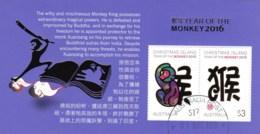 Christmas Island 2016 Year Of The Monkey Minisheet CTO - - Christmas Island