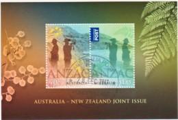 Australia 2015 ANZAC Day Joint Issue New Zealand Minisheet CTO - - 2010-... Elizabeth II