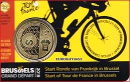 BELGIE - COINCARD 2.50 € 2019 BU - START RONDE VAN FRANKRIJK IN BRUSSEL - NL - Belgique