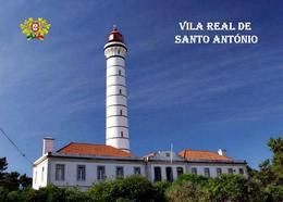 AK Leuchturm Portugal Algarve Vila Real De Santo Antonio Lighthouse New Postcard - Fari