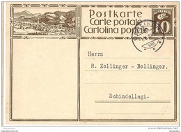 "VI32 - Entier Postal  Avec Illustration ""Luftkurort Mogelsberg"" Cachet à Date De Oerlikon 1930 - Interi Postali"