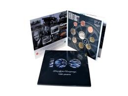 Belgie 2003, 100 Jaar Ford,  UNC Set Met 8 Munten + Themapenning, In Mapje - Belgique