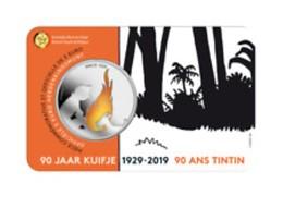 Belgie 2019   5 Euro Gekleurd - Collorée  Kuifje - Tintin In Coincard   Extreme Rare !!! - Belgien