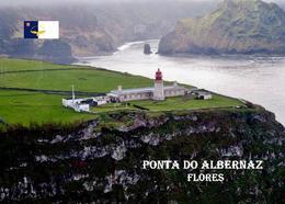 AK Azoren Leuchturm Azores Flores Island Ponta Albernaz Lighthouse New Postcard - Vuurtorens