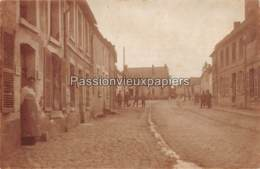 CARTE PHOTO ALLEMANDE MAUREGNY 1917 RUE DE COURTRIZY - France