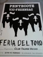 Affiche Pantecôte à Vic Fezensac Feria Del Toro - Affiches