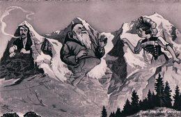 Blank, Eiger, Mönch Und Jungfrau Portrait, Carte Surréaliste (9354) - Andere Illustrators