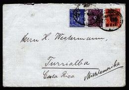 A6018) DR Infla Brief Leipzig 13.02.22 N. Costa Rica Bahnpoststempel - Briefe U. Dokumente