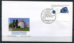 """Germany 2015 First Day Cover Mi.Nr.3194 (Bogen)Ersttagsbriefe""""250 Jahre Techn.Universität Bergbauakademie Freiberg""""1 FDC - Minerals"""