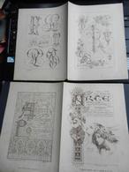 8g) ARTE MINUSCOLA LEZIONE DI DISEGNO 26 GIUGNO 1898 DUE FOGLI CON VARIE IMMAGINI - Libri, Riviste, Fumetti