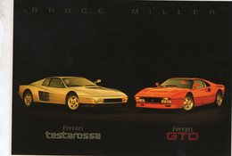 Ferrari Testarossa  -  Ferrari GTO  -  Photography Bruce Miller  -  Carte Postale - Voitures De Tourisme