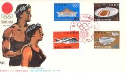 FDC XVIII. Olympiade Tokio 1964 - Sommer 1964: Tokio