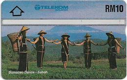 Malaysia (Kadfon) - Sumazau Dance - L&G - 501A - 1995, 10RM, 100.000ex, Used - Malaysia