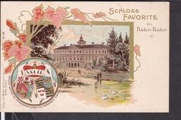 Schloß Favorite Bei Baden Baden , Familienwappen , Adel - Baden-Baden