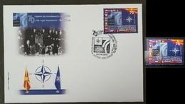 MACEDONIA NORTH 2019 - 70th Anniversary Of NATO MNH + FDC - Macédoine