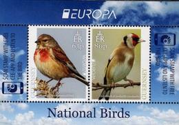 Guernsey 2019 Europa Sheet MNH   Europa Birds Puffin Linnet Bullfinch Goldfinch Starling Kingfisher - Pájaros