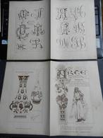 8g) ARTE MINUSCOLA LEZIONE DI DISEGNO 28 AGOSTO 1898 DUE FOGLI CON VARIE IMMAGINI ARABO DELLE MISSIONI - Libri, Riviste, Fumetti