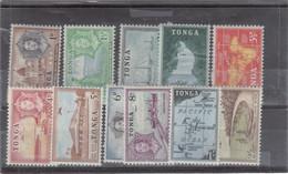 VV10 - TONGA  PO 100 / 110 * Trace De 1953 - Partie De Série - Cartographie, Bateaux, Vues Diverses - - Tonga (1970-...)