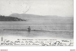 Marine Française- Le Gustave-Zédé , Sous-marin - Guerre
