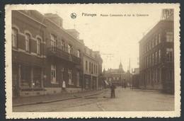 +++ CPA - PATURAGES - Maison Communale Et Rue Du Commerce - Nels   // - Colfontaine