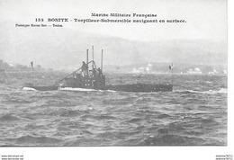 Marine Militaire Française-Bonite-Torpilleur-Submersible Naviguant En Surface - Toulon