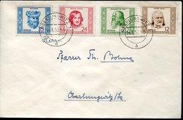 44282 Germany Ddr, Fdc 1952 Circuled, Avicenna, Gogol, Leonardo Da Vinci, Victor Hugo - FDC: Briefe