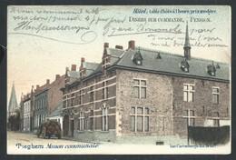 +++ CPA - TIEGHEM - TIEGEM - Maison Communale - Publicité Hôtel - Couleur 1903  // - Anzegem