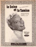 PETULA CLARK - LA SEINE ET LA TAMISE - 1960 - PIERRE DELANOE - EXCELLENT ETAT - - Otros