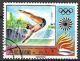 RAS AL KHAIMA    -   Aéro  -    Plongeon  /  Natation.  Oblitéré - High Diving