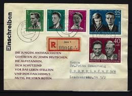 DDR - RECO-Beleg Mi-Nr. 849 - 853 Mit Ersttags-Tagesstempel JENA - [6] Democratic Republic