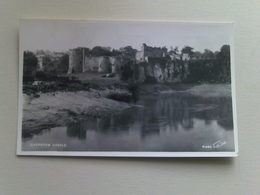 Black And White  Postcard -  Chepstow Castle - Monmouthshire