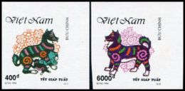 Vietnam 1994  YT 1432-33 Nd ; Mi# 2568-69  (*) MNG  Imperforate - Vietnam