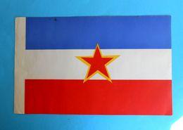 YUGOSLAVIA Original Vintage Paper STATE COMMUNIST FLAG * Larger Size * Drapeau Flagge Croatia Slovenia Bosnia Macedonia - Flags