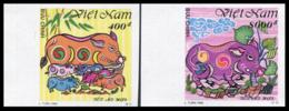 Vietnam 1995  YT 1515-16 Nd ; Mi# 2656-57  (*) MNG   Imperforate - Vietnam