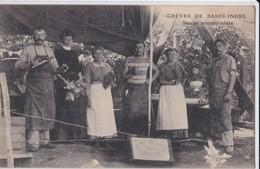 Top Carte 1910 GREVES DE BASSE INDRE / SOUPE COMMUNISTE - Basse-Indre
