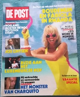 DE POST - Nr 2001 - JULI 1987 - BOUDEWIJN FABIOLA RWANDA PIERRE ROMEYER MONSTER CHARQUITO JOS GHYSEN ETC............ - General Issues