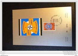 Belgique 1969 C.S Avec N° 1496 Numéroté Caxchet Genappe : Signature Traité De L'OTAN - Cartes Souvenir
