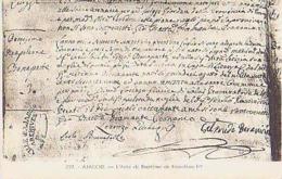 Corse        76       Ajaccio.L'Acte De Baptème De Napoléon 1er - Ajaccio