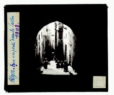 Oude Glasplaat (8,5 X 10cm).ALGER.   Rue En. Pente Dans La Casba  1938 - Glasplaten