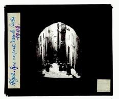 Oude Glasplaat (8,5 X 10cm).ALGER.   Rue En. Pente Dans La Casba  1938 - Plaques De Verre